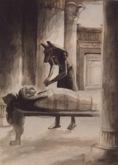 Totengott Anubis